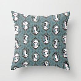 Crawley girls victorian downton Throw Pillow