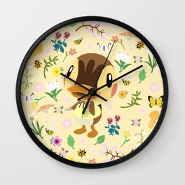 Molly in Spring Wall Clock