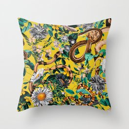 Dangers in the Forest IV Throw Pillow