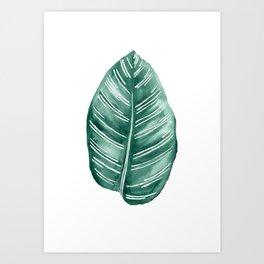 Tropical Leaf watercolour Art Print