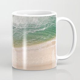 Pastel beach | Drone aerial photography | Wanderlust photo art Coffee Mug