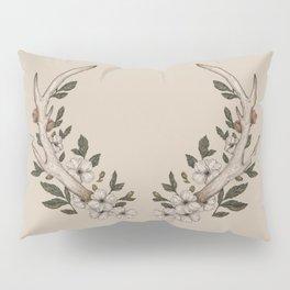 Floral Antler Pillow Sham