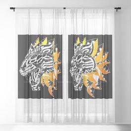 Golden Tiger Ecopop Sheer Curtain