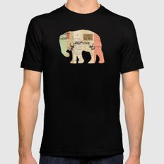 elephant Black MEDIUM Mens Fitted Tee