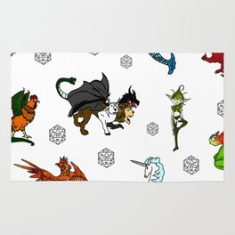 RPG Fantasy Creatures, Monsters and dice Rug