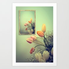 Tulips Tulips -- Spring Botanical Still Life Art Print