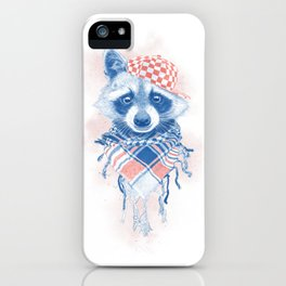 Rocco Raccoon - blue version iPhone Case