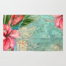 Tropical Map Rug
