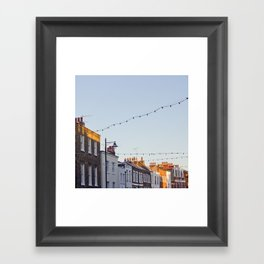 London houses Framed Art Print