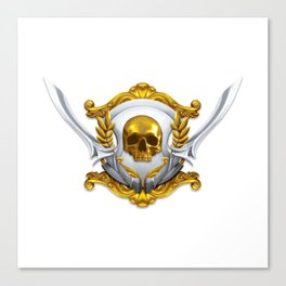 Pirate Emblem Canvas Print
