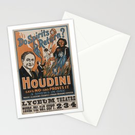 Houdini - vintage poster, spirits Stationery Cards