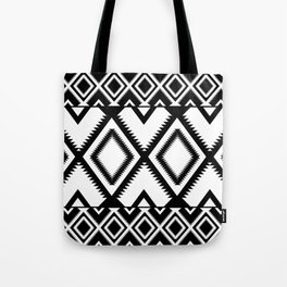 Lozenges Geometric Black Pattern Tote Bag