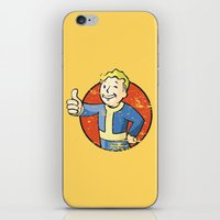 fallout iPhone & iPod Skins featuring Fallout Vault boy by Krakenspirit
