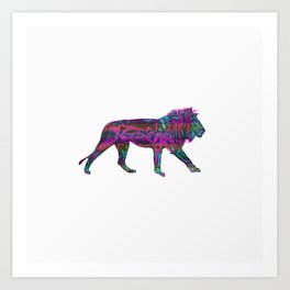 Colorful King Lion Art Print