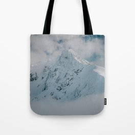 White peak - Landscape and Nature Photography Tote Bag