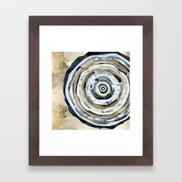 Wood Slice Abstract Framed Art Print