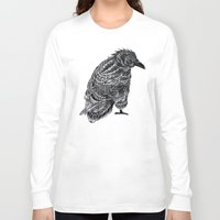 raven Long Sleeve T-shirts featuring Raven by BIOWORKZ