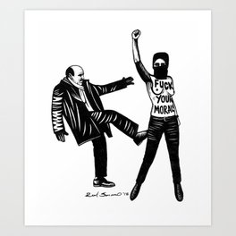 Femen. Fuck Your Moral Art Print