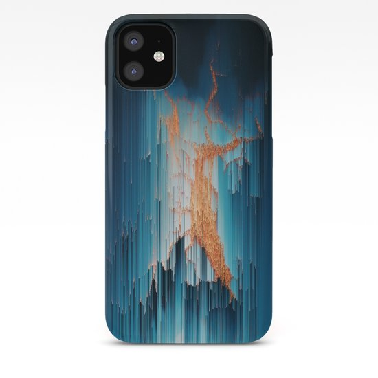 Glitch In The Dark Abstract Pixel Art Iphone Case
