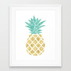 Gold Pineapple Framed Art Print