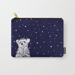 Polar Bear in a Snow Storm Carry-All Pouch