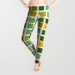 Drizzling Squares Earth Tone Edition 6 Leggings