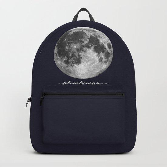 Full Moon on Navy Latin Backpack