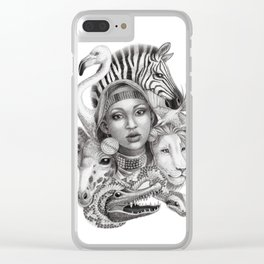 African Clear iPhone Case