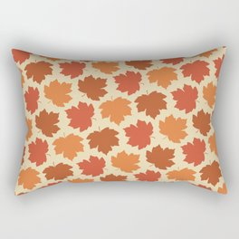 Happy Fall Y'all! Falling maple leaves Rectangular Pillow