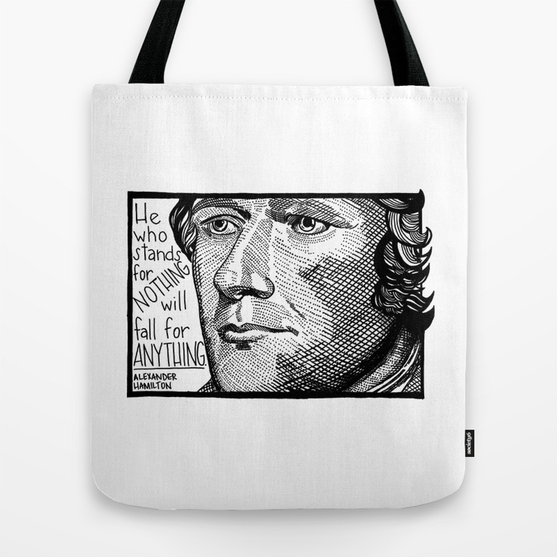 b7dbf2b9fd0d Alexander Hamilton Tote Bag by alphavariable | Society6