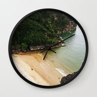 heaven Wall Clocks featuring Heaven by Mimy