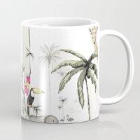 jungle Mugs featuring Jungle by Annet Weelink Design