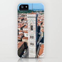 Aerial view of Giotto's Campanile from the Cathedral - Florence iPhone Case