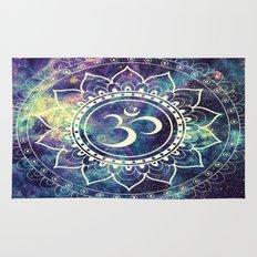 Om Mandala : Deep Pastels Galaxy Rug