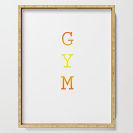 gym Serving Tray