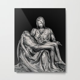 Michealangelo Masterpiece La Pieta Sculpture Metal Print