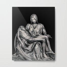 Michealangelo Masterpiece La Pieta Sculpture Metal Print