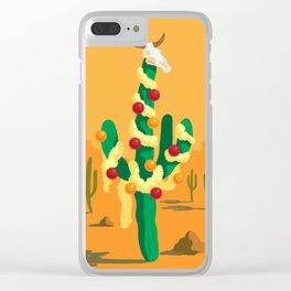 Merry Cactus Clear iPhone Case