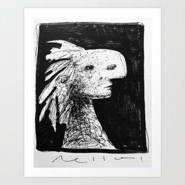 ' Wild ' ~ Pen and Ink Sketchbook Drawing Art Print
