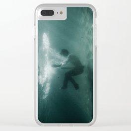 Underwater Portal Clear iPhone Case
