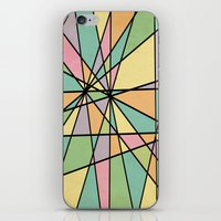 stained glass iPhone & iPod Skins featuring Stained Glass by Tammy Kushnir