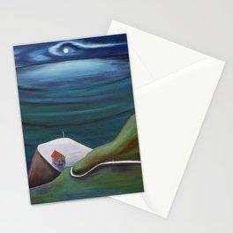 Cliff House - Hawaii landscape coastal seashore painting by Marguerite Blasingame Stationery Cards