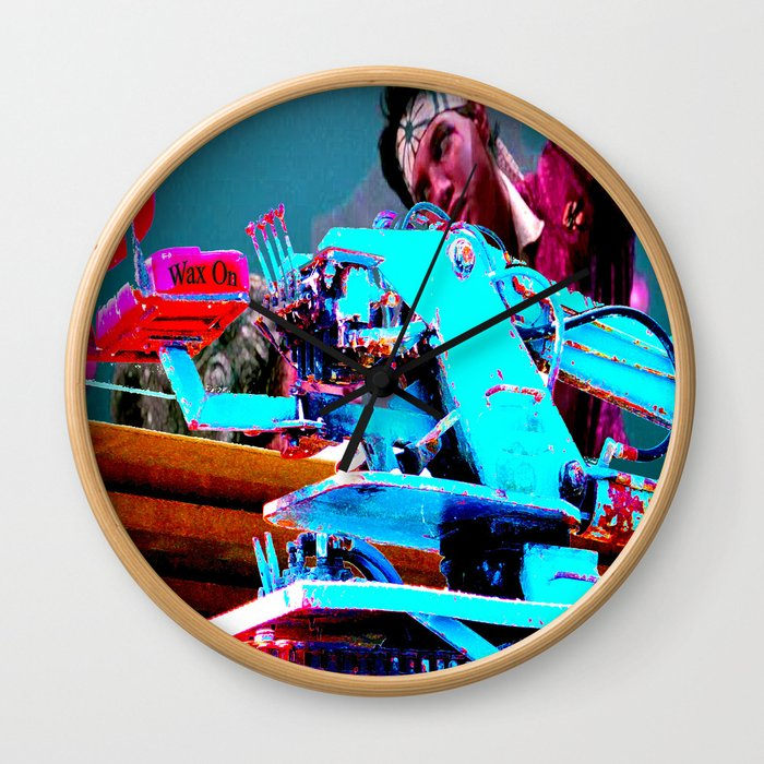 Quick!  Engage the Wax Machine! Wall Clock