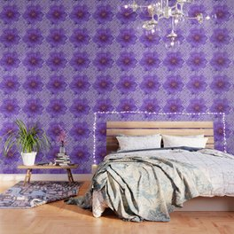 LILAC PURPLE FLORAL & PURPLE GEOMETRIC Wallpaper