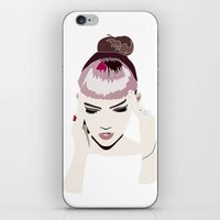 grimes iPhone & iPod Skins featuring Grimes by n u m b