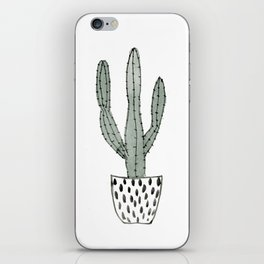 Potted cactus iPhone Skin