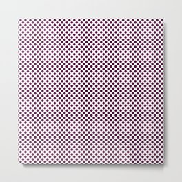 Blackberry Polka Dots Metal Print