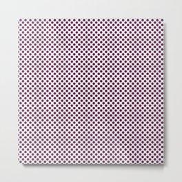 Blackberry Polka Dots Metal Print