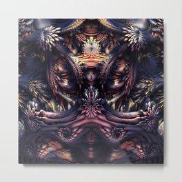 Homage to H.R. Giger Metal Print