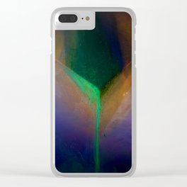Green Falls Clear iPhone Case